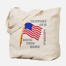 Support Our Troops Bring Them Home Tote Bag
