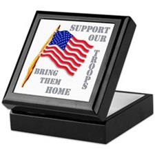 Support Our Troops Bring Them Home Keepsake Box