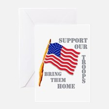 Support Our Troops Bring Them Home Greeting Card