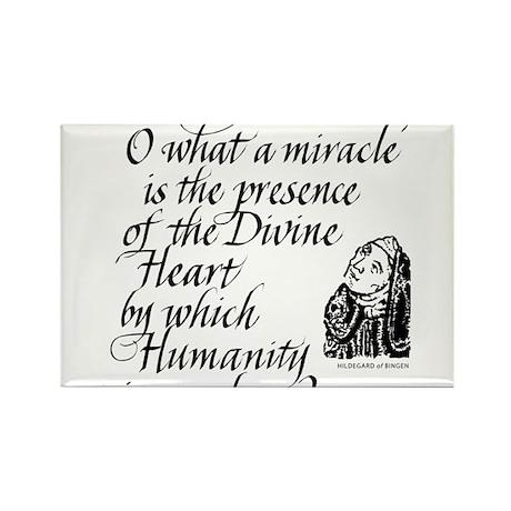 Hildegard Divine Heart Rectangle Magnet (10 pack)