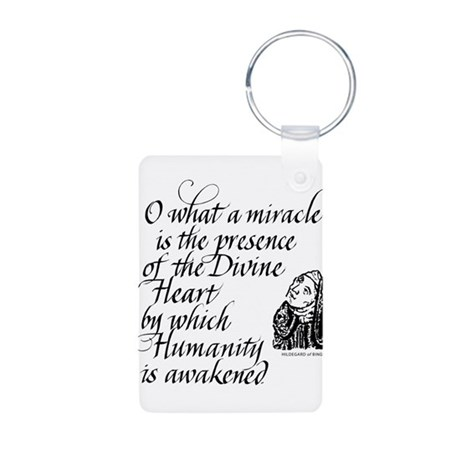 Hildegard Divine Heart Aluminum Photo Keychain