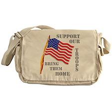 Support Our Troops Bring Them Messenger Bag