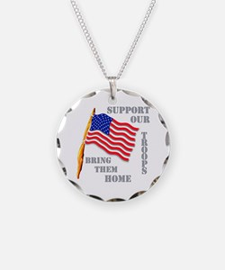 Support Our Troops Bring Them Necklace