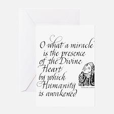 Hildegard Divine Heart Greeting Card