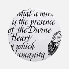 Hildegard Divine Heart Ornament (Round)