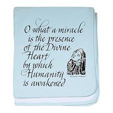 Hildegard Divine Heart baby blanket