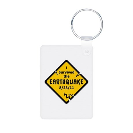 Earthquake 8/23/11 Aluminum Photo Keychain