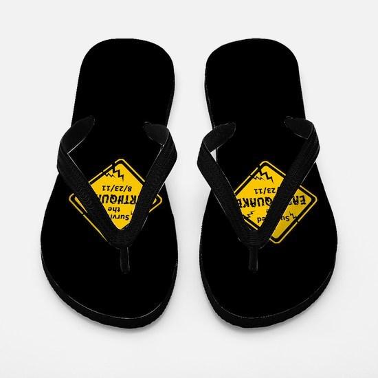 Earthquake 8/23/11 Flip Flops