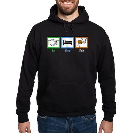 Eat Sleep Knit Hoodie (dark)