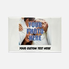 Custom Photo and Text Rectangle Magnet (10 pack)