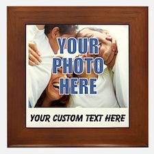 Custom Photo and Text Framed Tile