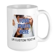 Custom Photo and Text Ceramic Mugs
