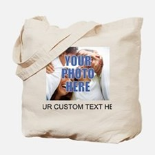 Custom Photo and Text Tote Bag