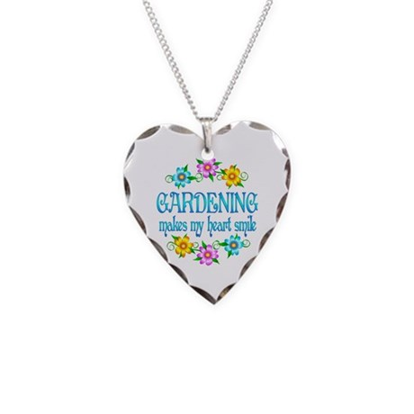 Gardening Smiles Necklace Heart Charm