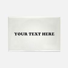 Custom Text Rectangle Magnet (100 pack)