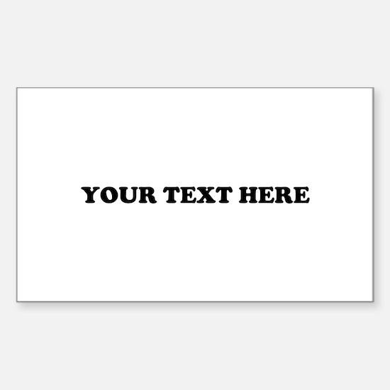 Custom Text Sticker (Rectangle)