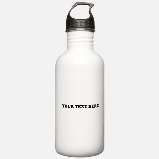 Custom Text Sports Water Bottle