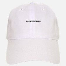 Custom Text Baseball Baseball Cap