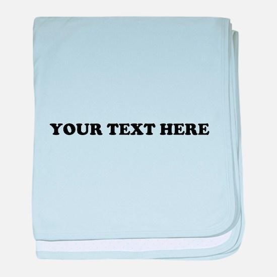 Custom Text baby blanket