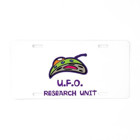 UFO Research Unit Aluminum License Plate