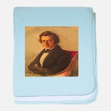 Frederick Chopin baby blanket