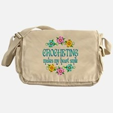 Crocheting Smiles Messenger Bag