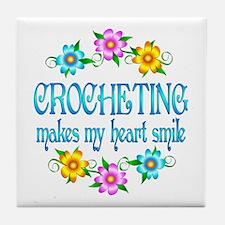 Crocheting Smiles Tile Coaster