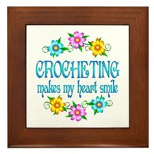Crocheting Smiles Framed Tile
