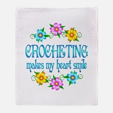 Crocheting Smiles Throw Blanket