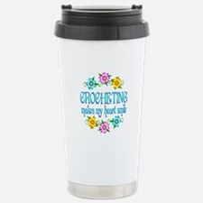 Crocheting Smiles Stainless Steel Travel Mug