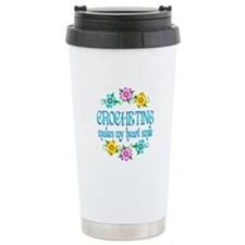 Crocheting Smiles Travel Mug