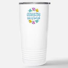 Crocheting Smiles Travel Mug