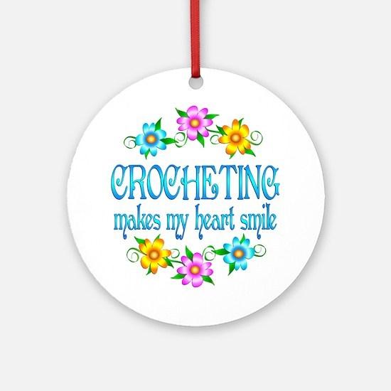 Crocheting Smiles Ornament (Round)