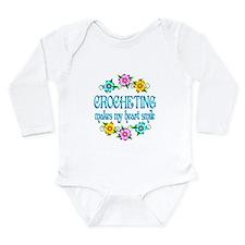 Crocheting Smiles Long Sleeve Infant Bodysuit