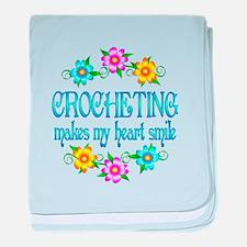 Crocheting Smiles baby blanket