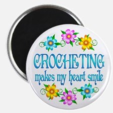 "Crocheting Smiles 2.25"" Magnet (10 pack)"