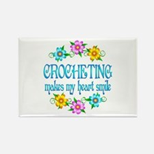 Crocheting Smiles Rectangle Magnet