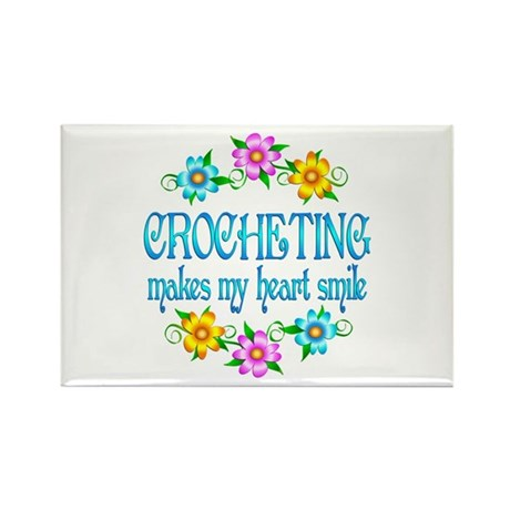 Crocheting Smiles Rectangle Magnet (100 pack)