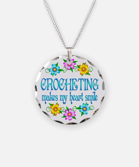 Crocheting Smiles Necklace Circle Charm