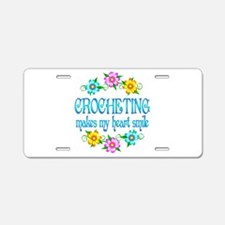 Crocheting Smiles Aluminum License Plate
