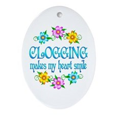 Clogging Smiles Ornament (Oval)