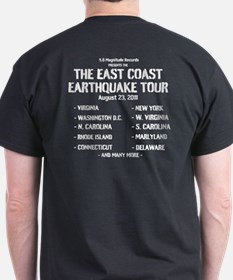 East Coast Earthquake Tour T-Shirt