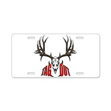 Mule deer tag out Aluminum License Plate