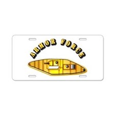 Armored Force - US Army Aluminum License Plate