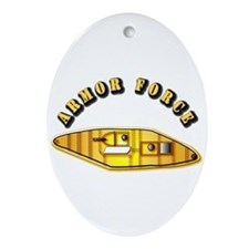 Armored Force - US Army Ornament (Oval)