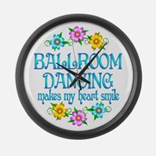 Ballroom Smiles Large Wall Clock