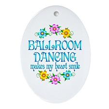 Ballroom Smiles Ornament (Oval)