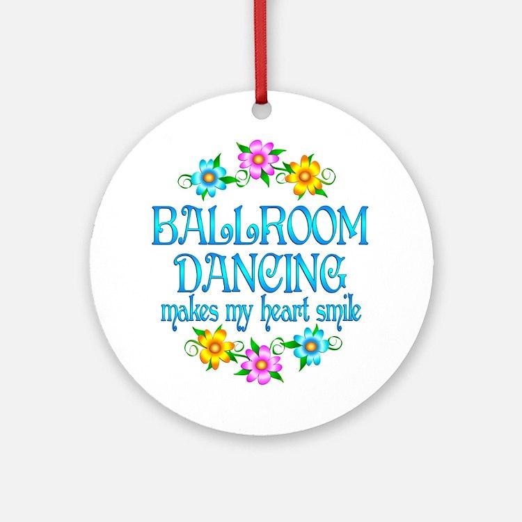 Ballroom Smiles Ornament (Round)