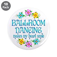 "Ballroom Smiles 3.5"" Button (10 pack)"