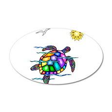 Sea Turtle #1 22x14 Oval Wall Peel